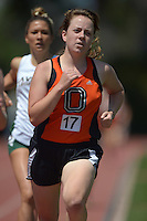 Apr 11, 2015; Los Angeles, CA, USA; Grace Bender of Occidental College places 11th in the womens 1,500m in 5:13.37 in a SCIAC multi dual meet at Occidental College. Photo by Kirby Lee
