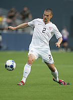 Heath Pearce controls the ball. USA defeated Grenada 4-0 during the First Round of the 2009 CONCACAF Gold Cup at Qwest Field in Seattle, Washington on July 4, 2009.