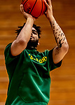 8 January 2020: University of Vermont Catamount Forward Anthony Lamb, a Senior from Rochester, NY, warms up prior to a game against the Stony Brook University Seawolves at Patrick Gymnasium in Burlington, Vermont. The Seawolves defeated the Catamounts 81-77 in a closely fought game. Mandatory Credit: Ed Wolfstein Photo *** RAW (NEF) Image File Available ***