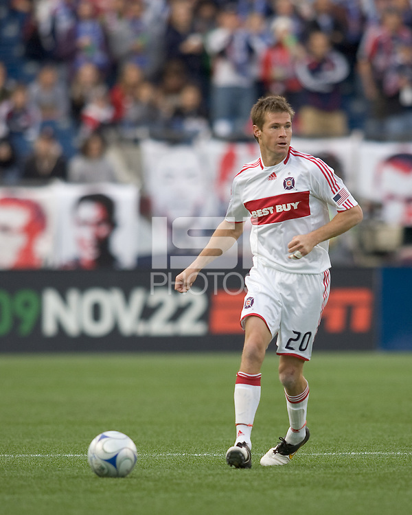 Chicago Fire forward Brian McBride (20). The New England Revolution out scored the Chicago Fire, 2-1, in Game 1 of the Eastern Conference Semifinal Series at Gillette Stadium on November 1, 2009.