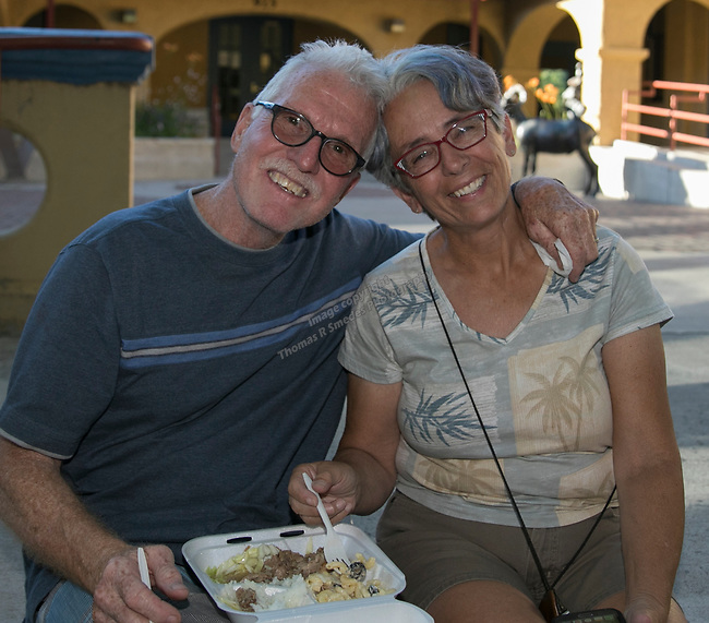 Mike and Alyce Branigan during the Feed the Camel food truck night at the McKinley Arts Center in Reno on Wednesday, June 28, 2017.