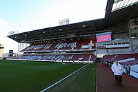 Pictured: Interior view of the Bobby Moore Stand of Boleyn Ground. 01 February 2014<br /> Re: Barclay's Premier League, West Ham United v Swansea City FC at Boleyn Ground, London.