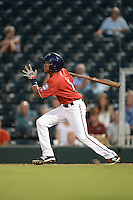 Fort Myers Miracle shortstop Engelb Vielma (7) at bat during a game against the Tampa Yankees on April 15, 2015 at Hammond Stadium in Fort Myers, Florida.  Tampa defeated Fort Myers 3-1 in eleven innings.  (Mike Janes/Four Seam Images)
