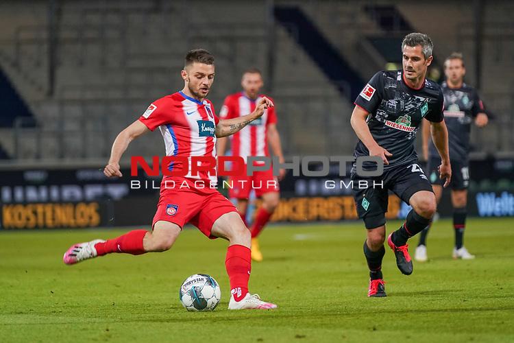 Fin Bartels (Werder Bremen #22)<br /> <br /> <br /> Sport: nphgm001: Fussball: 1. Bundesliga: Saison 19/20: Relegation 02; 1.FC Heidenheim vs SV Werder Bremen - 06.07.2020<br /> <br /> Foto: gumzmedia/nordphoto/POOL <br /> <br /> DFL regulations prohibit any use of photographs as image sequences and/or quasi-video.<br /> EDITORIAL USE ONLY<br /> National and international News-Agencies OUT.