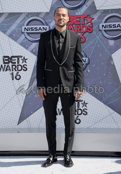 26 June 2016 - Los Angeles. Jesse Williams. Arrivals for the 2016 BET Awards held at the Microsoft Theater. Photo Credit: Birdie Thompson/AdMedia