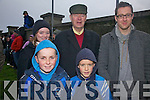 At the South Kerry Final on Christmas Eve were front l-r; Cian O'Shea, Niall O'Shea, back l-r; Doirean Ó Muircheartaigh, Mícheál Ó Muircheartaigh & Sean McElwain.