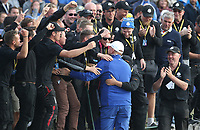 Thomas Bjorn (Team Europe Captain) goes to the greenskeepers after the Sunday' Singles, at the Ryder Cup, Le Golf National, &Icirc;le-de-France, France. 30/09/2018.<br /> Picture David Lloyd / Golffile.ie<br /> <br /> All photo usage must carry mandatory copyright credit (&copy; Golffile | David Lloyd)