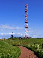 Funkturm auf dem Oberland, Insel Helgoland, Schleswig-Holstein, Deutschland, Europa<br /> radio tower, Oberland, Helgoland island, district Pinneberg, Schleswig-Holstein, Germany, Europe