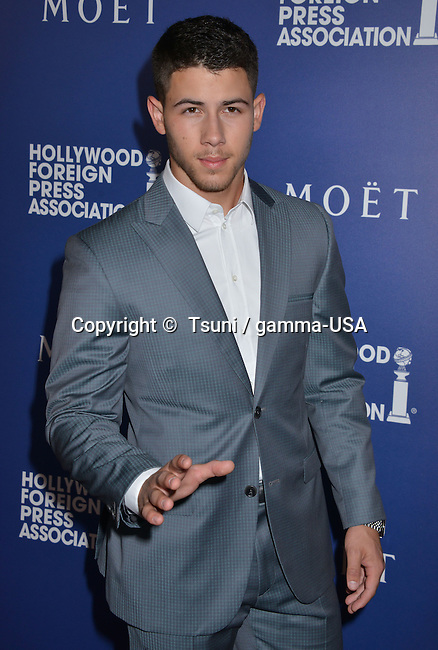 Nick Jonas at the HFPA Grants to Non Profits and Scholarship Programs at the Beverly Hilton In Los Angeles.