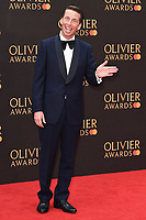 Jack McBrayer<br /> arriving for the Olivier Awards 2019 at the Royal Albert Hall, London<br /> <br /> ©Ash Knotek  D3492  07/04/2019