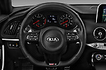 Car pictures of steering wheel view of a 2019 KIA Stinger GT 5 Door Hatchback