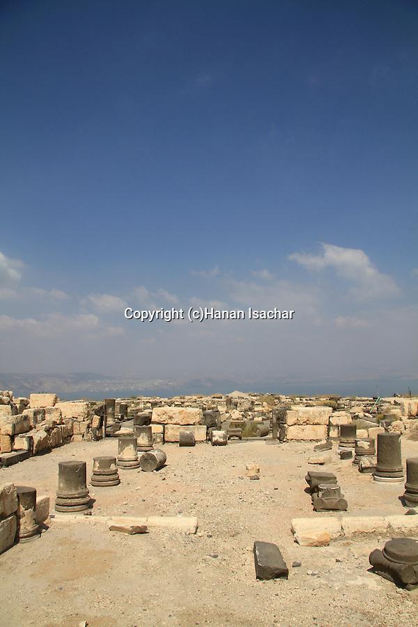 Golan Heights, the Byzantine Northwest Church at Hippos on Mount Susita
