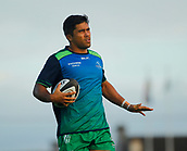 9th September 2017, Galway Sportsground, Galway, Ireland; Guinness Pro14 Rugby, Connacht versus Southern Kings; Connacht Flanker Jarrad Butler during the warm up