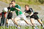 Fionan O Clumhain Colaiste na Sceilige flys through the Colaiste Chrois Ri defence  in Killarney on Wednesday
