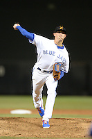 Salt River Rafters pitcher Aaron Sanchez (32), of the Toronto Blue Jays organization, during an Arizona Fall League game against the Mesa Solar Sox on October 10, 2013 at Salt River Fields at Talking Stick in Scottsdale, Arizona.  Mesa defeated Salt River 8-1.  (Mike Janes/Four Seam Images)