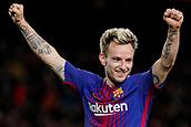 11th January 2018, Camp Nou, Barcelona, Spain; Copa del Rey football, round of 16, 2nd leg, Barcelona versus Celta Vigo; Ivan Rakitic of FC Barcelona celebrates the goal for 5-0 in the 87th minute