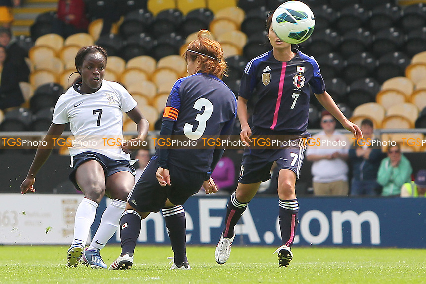 Eniola Aluko goes close to a goal for England - England Women vs Japan Women - Friendly Football International at the Pirelli Stadium, Burton Albion FC - 26/06/13 - MANDATORY CREDIT: Gavin Ellis/TGSPHOTO - Self billing applies where appropriate - 0845 094 6026 - contact@tgsphoto.co.uk - NO UNPAID USE