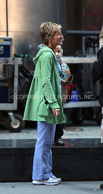 WWW.ACEPIXS.COM . . . . .  ....September 25 2009, New York City....Actress Edie Falco and her son Anderson on the Manhattan set of the TV show 'Nurse Jackie' on September 25 2009 in New York City....Please byline: AJ Sokalner - ACEPIXS.COM.... *** ***..Ace Pictures, Inc:  ..(212) 243-8787 or (646) 769 0430..e-mail: picturedesk@acepixs.com..web: http://www.acepixs.com