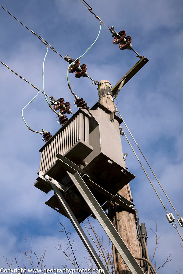 Rural electricity transformer and cables