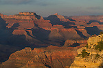 View of Powell Point from Hopi Point at sunset, South Rim, Grand Canyon, Arizona. .  John offers private photo tours in Grand Canyon National Park and throughout Arizona, Utah and Colorado. Year-round.
