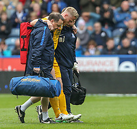 Preston North End's Tom Clarke is helped from the field in the first half<br /> <br /> Photographer Alex Dodd/CameraSport<br /> <br /> The EFL Sky Bet Championship - Huddersfield Town v Preston North End - Friday 14th April 2016 - The John Smith's Stadium - Huddersfield<br /> <br /> World Copyright &copy; 2017 CameraSport. All rights reserved. 43 Linden Ave. Countesthorpe. Leicester. England. LE8 5PG - Tel: +44 (0) 116 277 4147 - admin@camerasport.com - www.camerasport.com