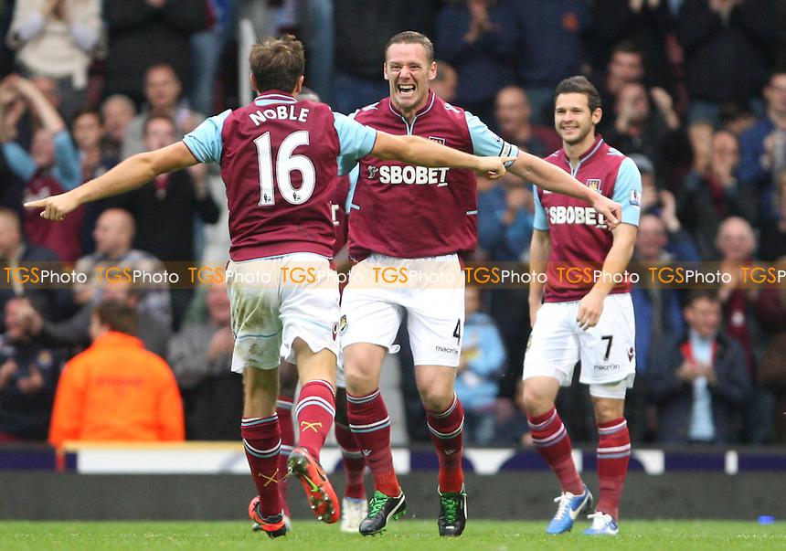 Kevin Nolan is congratulated after scoring the 2nd goal for West Ham - West Ham United vs Southampton, Barclays Premier League at Upton Park, West Ham - 20/10/12 - MANDATORY CREDIT: Rob Newell/TGSPHOTO - Self billing applies where appropriate - 0845 094 6026 - contact@tgsphoto.co.uk - NO UNPAID USE.