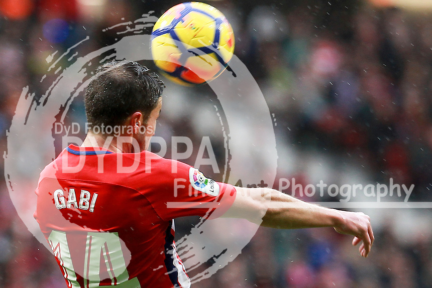 Atletico Madrid's Spanish midfielder Gabi<br /> <br /> Atletico de Madrid vs Getafe Spanish League football match, La Liga Santander, at Wanda Metropolitano stadium in Madrid on January 6, 2017