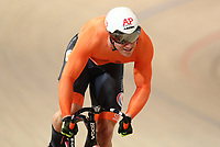 Picture by SWpix.com - 02/03/2018 - Cycling - 2018 UCI Track Cycling World Championships, Day 3 - Omnisport, Apeldoorn, Netherlands - Men's Sprint Qualifying - Jeffrey Hoogland of The Netherlands