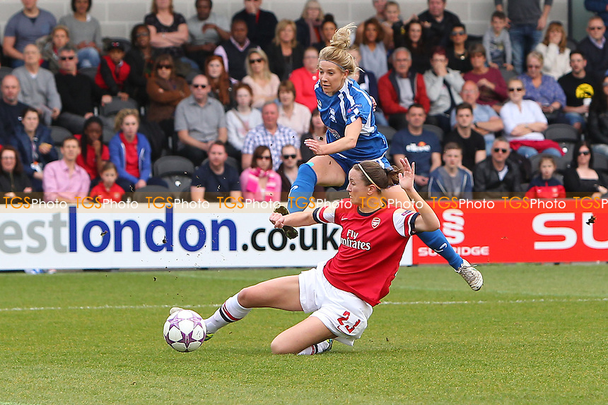 Kirsty Linnett of Birmingham City Ladies scores the first goal of the game - Arsenal Ladies vs Birmingham City Ladies - UEFA Womens Champions League Quarter-Final 2nd Leg Football at The Hive, London - 30/03/14 - MANDATORY CREDIT: Gavin Ellis/TGSPHOTO - Self billing applies where appropriate - 0845 094 6026 - contact@tgsphoto.co.uk - NO UNPAID USE
