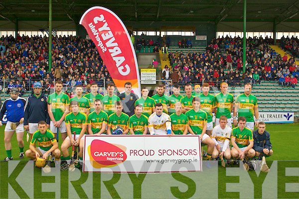 Lixnaw Team before the County Senior Hurling Final at Austin Stack park on Sunday.