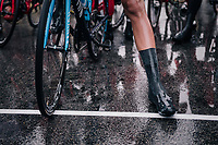 wet start line<br /> <br /> 76th Paris-Nice 2018<br /> Stage 7: Nice &gt; Valdeblore La Colmiane (175km)