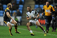 Anthony Watson of Bath Rugby in possession. European Rugby Champions Cup match, between Wasps and Bath Rugby on December 13, 2015 at the Ricoh Arena in Coventry, England. Photo by: Patrick Khachfe / Onside Images