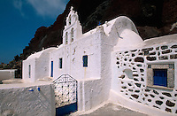 Kirche Agios Nikolaos in Alt-Akrotiri, Insel Santorin (Santorini), Griechenland, Europa