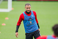 Jazz Richards during Wales national team training at Vale Resort, Hensol, Wales on 4 September 2017, ahead of the side's World Cup Qualification match against Moldova. Photo by Mark  Hawkins.