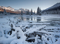 Eagle River, Alaska as temperatures drop below zero for the first time this winter.
