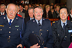 Local Gardai Gerry Smith, Eamon Mullarky and Catherine Rennick at the mass in the Augustinian Church, dedicated to the memory of those who have lost their lives in road traffic accidents.<br /> Picture: Shane Maguire / www.newsfile.ie