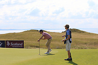 Pedro Figueiredo (POR) on the 3rd green during Round 1 of the Aberdeen Standard Investments Scottish Open 2019 at The Renaissance Club, North Berwick, Scotland on Thursday 11th July 2019.<br /> Picture:  Thos Caffrey / Golffile<br /> <br /> All photos usage must carry mandatory copyright credit (© Golffile | Thos Caffrey)