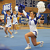 The North Babylon varsity cheerleaders perform during a competition held at Hauppauge High School on Saturday, Jan. 21, 2017.