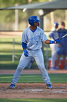 AZL Royals Felix Familia (7) at bat during an Arizona League game against the AZL White Sox at Camelback Ranch on June 19, 2019 in Glendale, Arizona. AZL White Sox defeated AZL Royals 4-2. (Zachary Lucy/Four Seam Images)