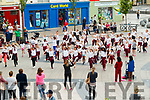 Moyderwell school doing a dance performance in the Square on Monday as part of active week.