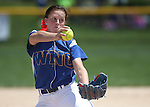 Western Nevada's Kristina George pitches against College of Southern Nevada at Edmonds Sports Complex Carson City, Nev., on Saturday, May 2, 2015.<br /> Photo by Cathleen Allison/Nevada Photo Source