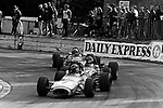 Mike Beuttler leading James Hunt at Crystal Palace in 1970.<br /> <br /> Daily Express Trophy 1970<br /> B.R.S.C.C. MotorSport - Shell Super Oil British F3 Championship, Rd 11