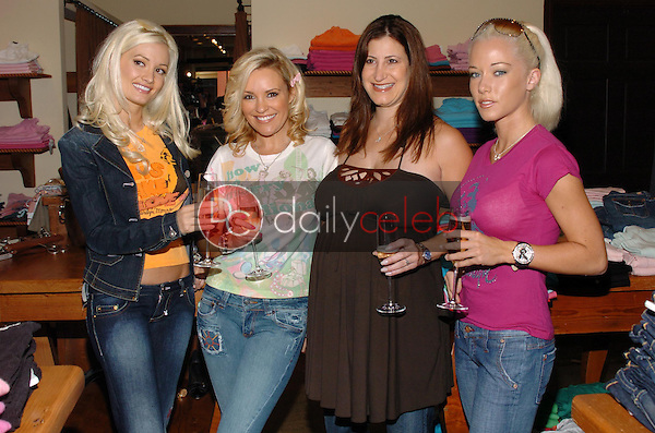 """Holly Madison and Bridget Marquardt with Lisa Kline and Kendra Wilkinson<br />at the Worldwide unveiling of the all new """"Fox Film Icons"""" clothing line. Lisa Kline, Los Angeles, CA. 02-02-06<br />Scott Kirkland/DailyCeleb.Com 818-249-4998"""