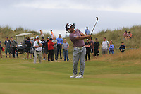Ryan Fox (NZL) on the 18th fairway on the play-off hole during Round 4 of the Dubai Duty Free Irish Open at Ballyliffin Golf Club, Donegal on Sunday 8th July 2018.<br /> Picture:  Thos Caffrey / Golffile