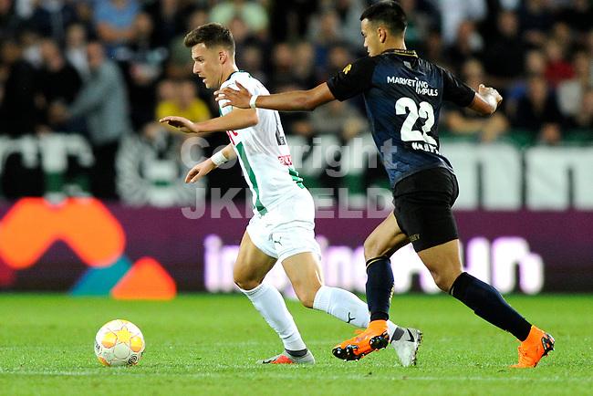 GRONINGEN - Voetbal, FC Groningen - Willem II,  Eredivisie , Hitachi stadion, seizoen 2018-2019, 17-08-2018,   FC Groningen speler Ajdin Hrustic