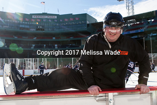 Tim Low - The University of Maine Black Bears defeated the University of Connecticut Huskies 4-0 at Fenway Park on Saturday, January 14, 2017, in Boston, Massachusetts.