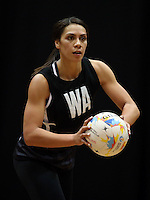 05.08.2015 Silver Ferns Grace Rasmussen during Silver Ferns training ahead of the 2015 Netball World Champs at All Phones Arena in Sydney, Australia. Mandatory Photo Credit ©Michael Bradley.