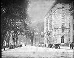 Frederick Stone negative. Auto Run - W. Main and Elton Streets, 1906 and 1908.