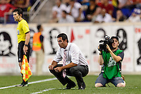 New York Red Bulls head coach Mike Petke. The New York Red Bulls and the Philadelphia Union played to a 0-0 tie during a Major League Soccer (MLS) match at Red Bull Arena in Harrison, NJ, on August 17, 2013.