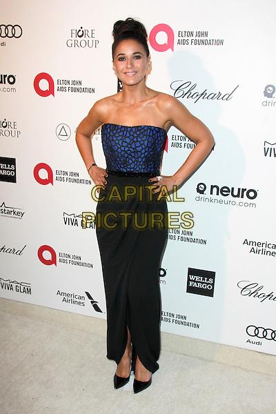 WEST HOLLYWOOD, CA - FEBRUARY 22: Emmanuelle Chriqui at the 2015 Elton John AIDS Foundation Oscar Party in West Hollywood, California on February 22, 2015. <br /> CAP/MPI/DC/DE<br /> &copy;DE/DC/MPI/Capital Pictures